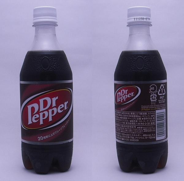ドクターペッパー 500mlペットボトル(2011/09現在)