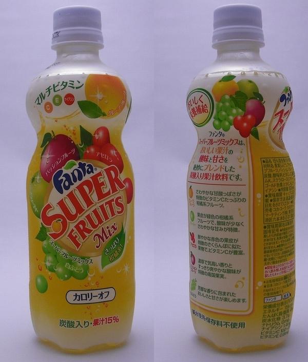 ファンタスーパーフルーツミックス 500mlペットボトル(2011/09現在)