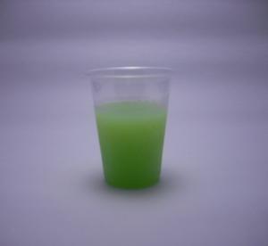 がぶ飲みメロンクリームソーダの色(2011/09現在)