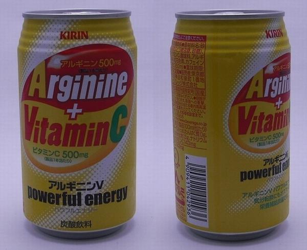 アルギニンV 350ml缶(2011/10現在)