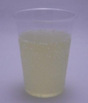 三ツ矢サイダー まる搾りレモンの色(2011/10現在)