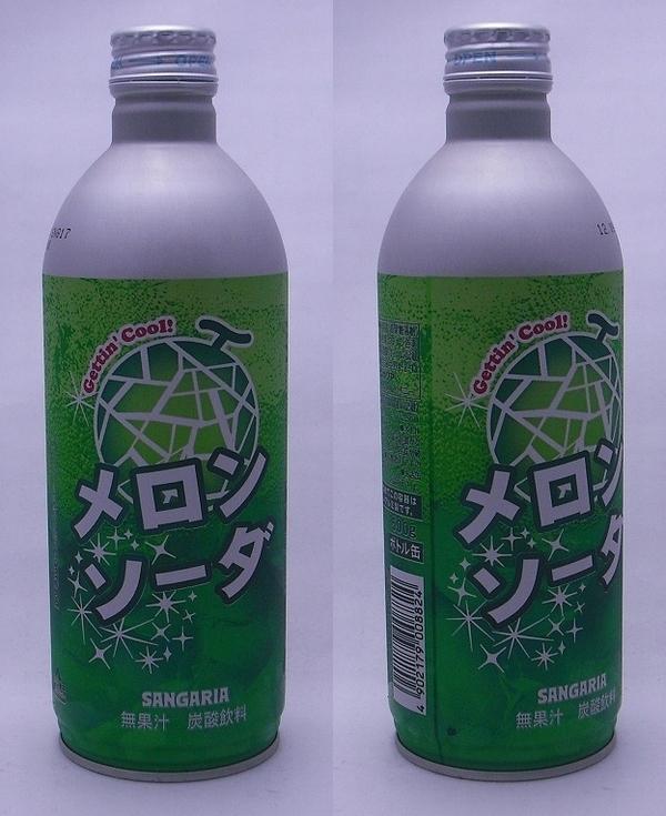 メロンソーダ 500mlペットボトル缶(2011/11現在)