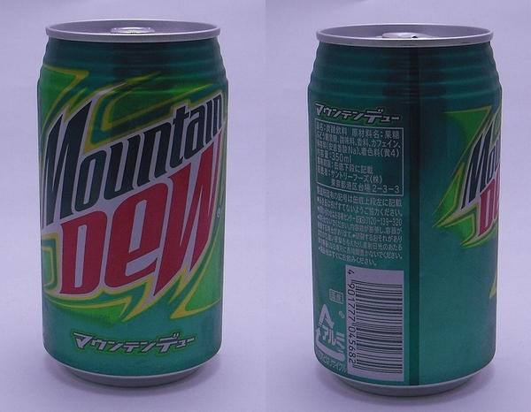 マウンテンデュー 350ml缶(2011/11現在)