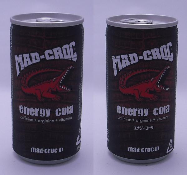 MAD-CROC Energy cola(マッドクロック エナジーコーラ) 190ml缶(2012/06現在)