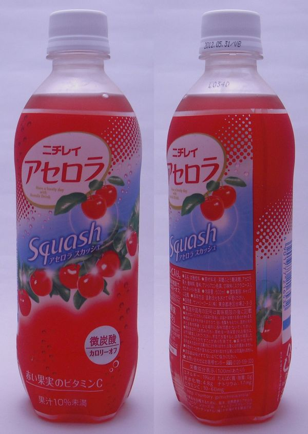ニチレイ アセロラスカッシュ 500mlペットボトル(2012/06現在)
