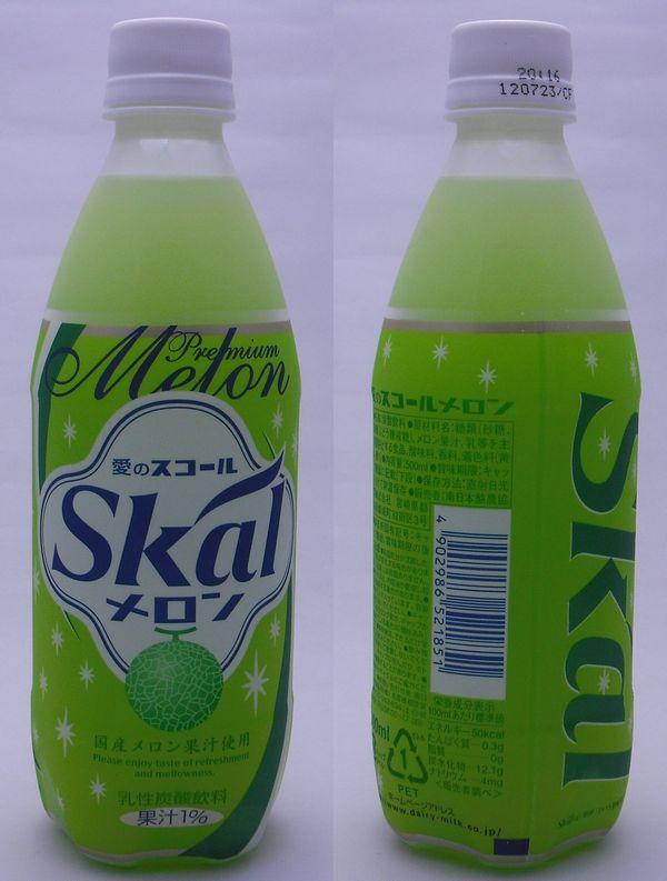 スコールメロン 500mlペットボトル(2012/05現在)