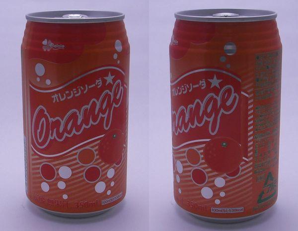 ベイシアオレンジソーダ 350ml缶(2012/10現在)