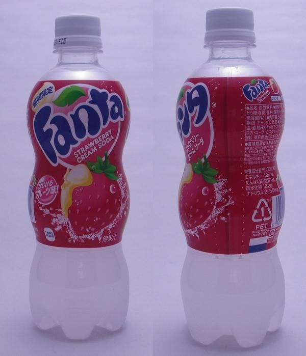 ファンタ ストロベリークリームソーダ 500mlペットボトル(2012/11現在)