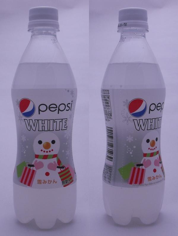 ペプシ ホワイト(雪みかん) 490mlペットボトル(2012/12現在)