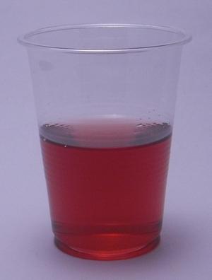 スッキリはじける ホンチョ(紅酢)ソーダ ブルーベリーsparklingの色